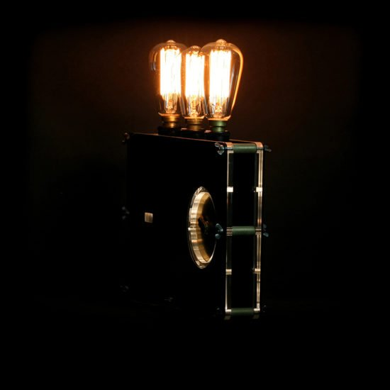 The original handcrafted lighting game set and match crafted by Light My Vintage with a stunning industrial 1940's metallic look