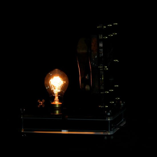 Authentic vintage table lamp high voltage revealed by Light My Vintage lends a warm glowing ambience to interior spaces