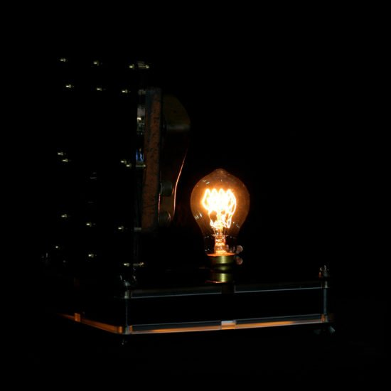 Authentic vintage table lamp high voltage made by hand by Light My Vintage is a great addition to a living room dining room or home office