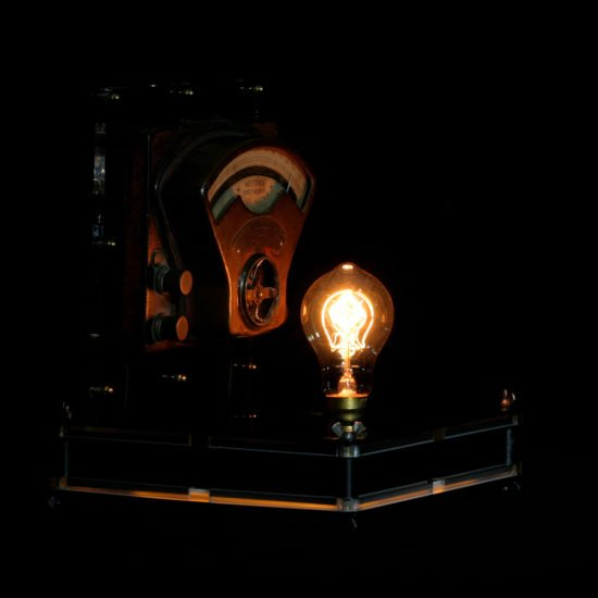 Authentic vintage table lamp high voltage published by Light My Vintage this lamp diffuses a soft light with its one Edison bulb
