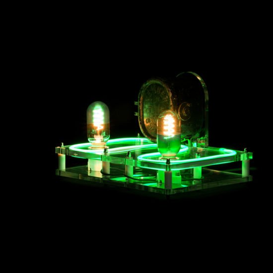 The steampunk industrial lamp Green Lantern put forward by Light My Vintage with nice fintion