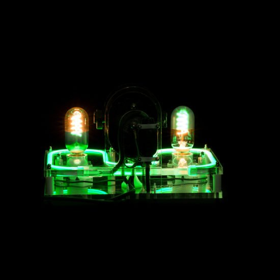 The steampunk industrial lamp Green Lantern offered for sale by Light My Vintage with its sober lines and impeccable finish