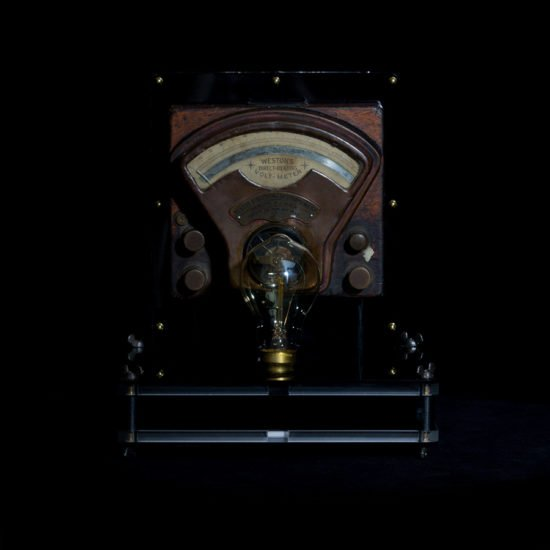 Authentic vintage table lamp high voltage crafted by Light My Vintage adds a touch of modernity.